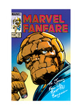 Marvel Fanfare 15 Cover: Thing Prints by Windsor-Smith Barry