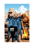 Marvel Adventures Fantastic Four No.42 Cover: Mr. Fantastic, Invisible Woman, Human Torch and Thing Posters por Henry Clayton
