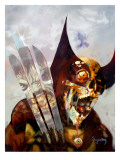 Marvel Zombies 3 Cover: Wolverine and Hulk Fighting Poster