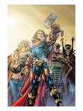 Thor No.74 Cover: Thor, Jordahl, Prince Magni, Thialfi and Loki Poster by Scot Eaton