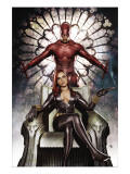 Black Widow: Deadly Origins #3 Cover: Invisible Woman and Daredevil Affiches van Niko Henrichon