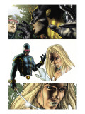 Wolverine 55 Headshot: Cyclops, Wolverine and Emma Frost Prints by Bianchi Simone