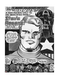 Captain America Bicentennial Battles Headshot: Captain America, Marvel Comics and X-Men Art by Jack Kirby
