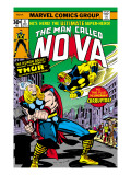 Nova: Origin Of Richard Rider - The Man Called Nova 4 Cover: Nova and Thor Prints by Buscema Sal