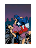 Captain America V4, 25 Cover: Captain America Print by Dave Johnson