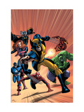 Marvel Adventures Avengers No.22 Cover: Wolverine Posters by Kirk Leonard
