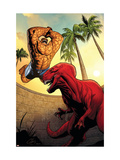 Marvel Adventures Fantastic Four 41 Cover: Thing and Devil Dinosaur Prints by Henry Clayton