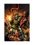 The Mighty Avengers 9 Cover: Dr. Doom and Spider Woman Posters by Mark Bagley