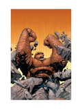 Marvel Knights 4 No.10 Cover: Thing Fighting Art by Steve MCNiven