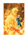 Fantastic Four #547 Cover: Human Torch and Invisible Woman Lminas por Michael Turner