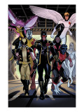 X-Men Legacy Annual 1 Group: Cyclops, Wolverine, Nightcrawler and Angel Prints by Daniel Acuna