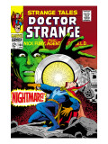 Strange Tales No.164 Cover: Dr. Strange and Yandroth Posters by Dan Adkins
