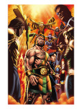 Incredible Hercules 129 Cover: Hercules, Cho, Amadeus, Banshee, Vision, Ant-Man and Wasp Prints by David Williams