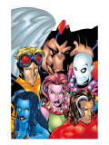 Exiles No.1 Cover: Blink, Morph, Thunderbird, Mimic, Magnus and Nocturne Print by Mike McKone