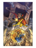 Marvel Team Up 3 Cover: Dr. Strange and Fantastic Four Print by Kolins Scott
