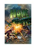Incredible Hulk 71 Cover: Hulk and Iron Man Poster by Mike Deodato Jr.