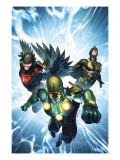 Nova 33 Cover: Nova, Black Bolt and Darkhawk Prints by Brandon Peterson