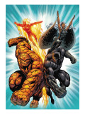 Black Panther No.1 Group: Black Panther, Thing, Storm and Human Torch Posters