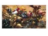Ultimates No.3 Cover: Captain America Poster von Joe Madureira