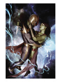 Nova No.10 Cover: Nova and Gamora Art by Granov Adi