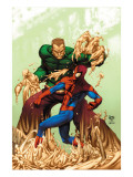 Marvel Age Spider-Man 17 Cover: Spider-Man and Sandman Poster by Roger Cruz
