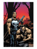 Wolverine Punisher No.2 Cover: Wolverine and Punisher Prints by Frank Gary
