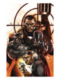 Punisher War Journal 26 Cover: Punisher and Rhino Art by Dave Wilkins