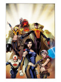 The Order 1 Cover: Anthem, Calamity, Supernaut, Veda, Mulholland and Aralune Poster by Kitson Barry