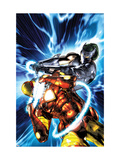 Iron Man vs. Whiplash No.2 Cover: Iron Man and Whiplash Prints by Brandon Peterson