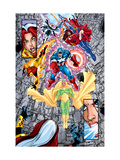 Avengers No.12 Group: Vision Art by George Perez