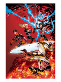 New X-Men No.19 Cover: Prodigy, Hellion, Surge, Magik, New Mutants and Hellions Fighting Posters by Aaron Lopresti