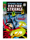 Strange Tales No.168 Cover: Dr. Strange and Yandroth Poster by Dan Adkins