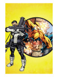 Punisher 1 Cover: Punisher and Sentry Print by Mike McKone