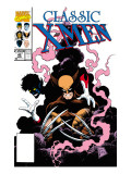 X-Men Classic No.45 Cover: Wolverine and Nightcrawler Fighting Prints by Lightle Steve