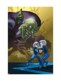 Dark Reign: Fantastic Four 4 Cover: Green Goblin, Richards, Franklin, Richards and Valeria Posters by Ferry Pasqual