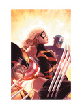 New Avengers No.17 Cover: Ms. Marvel, Captain America and Wolverine Prints by Mike Deodato Jr.