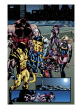 Weapon X: Days Of Future Now No.4 Group: Wolverine, Juggernaut, Cable, Lady Deathstrike and Warbird Prints by Andy Smith