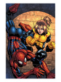 Marvel Age Spider-Man Team Up No.3 Cover: Spider-Man and Shadowcat Posters by Randy Green