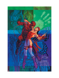 Elektra No.35 Cover: Daredevil and Elektra Fighting and Shooting Posters by Stelfreeze Brian