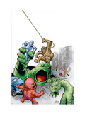 Marvel Monsters: Fin Fang Four 1 Cover: Fin Fang Foom Prints by Powell Eric