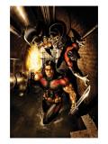 Uncanny X-Men No.488 Cover: Storm, Nightcrawler and Thunderbird Posters par Salvador Larroca