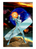 Silver Surfer No.13 Cover: Silver Surfer Swinging Poster