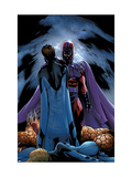 Ultimate Fantastic Four 22 Cover: Magneto and Mr. Fantastic Prints by Land Greg