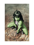 She-Hulk 3 Cover: She-Hulk Crouching Poster by Granov Adi