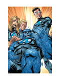 Ultimate Fantastic Four 41 Group: Human Torch, Mr. Fantastic, Invisible Woman and Thing Poster by Mark Brooks