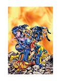 Avengers No.17 Cover: Wasp, Justice and Warbird Prints by Jerry Ordway