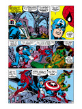 Captain America And The Falcon Group: Captain America, Falcon and Spider-Man Poster par John Romita Sr.