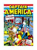 Jack Kirby - Komiks Captain America č.1, obálka: Captain America, Hitler Reprodukce