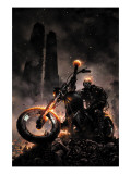 Ghost Rider 6 Cover: Ghost Rider Posters by Clayton Crain