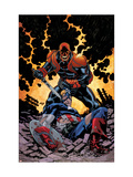 Captain America V4, 32 Cover: Red Skull and Captain America Fighting Poster by Scot Eaton